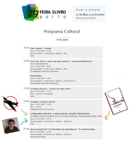 Programa oficial da Feira do Livro do Porto 2009